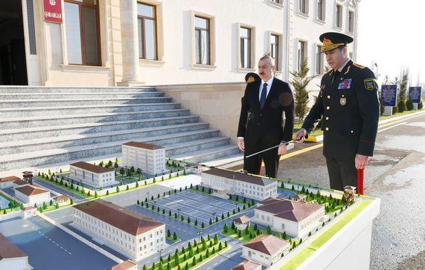 """İlham Əliyev Daxili Qoşunların """"N"""" saylı hərbi hissəsinin açılışında – FOTO"""