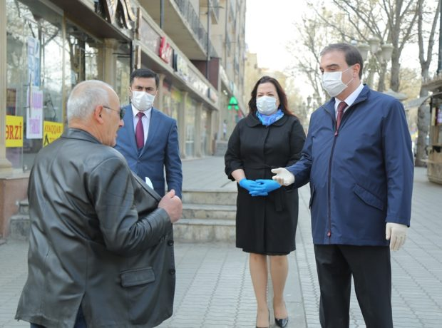 Gəncənin icra başçısı karantin rejimini pozanlara xəbərdarlıq edib – Fotolar