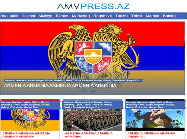 Erməni hakerlər AMVPRESS.AZ-a hücum etdilər