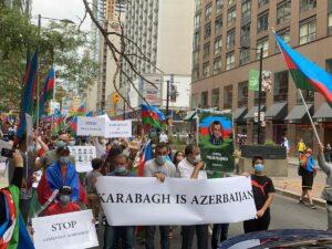 Kanadada yaşayan azərbaycanlılar da ordumuza dəstək aksiyası təşkil edib