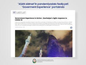 """""""ASAN xidmət""""in pandemiyadakı fəaliyyəti """"Goverment Experience"""" portalında"""