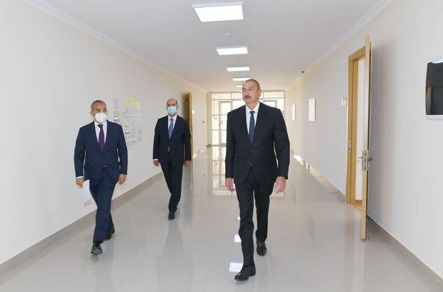 İlham Əliyev Sumqayıtda Peşə Təhsil Mərkəzinin açılışını etdi