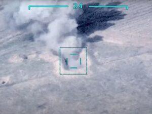 Düşmənin daha bir neçə hərbi texnikası məhv edildi – RƏSMİ