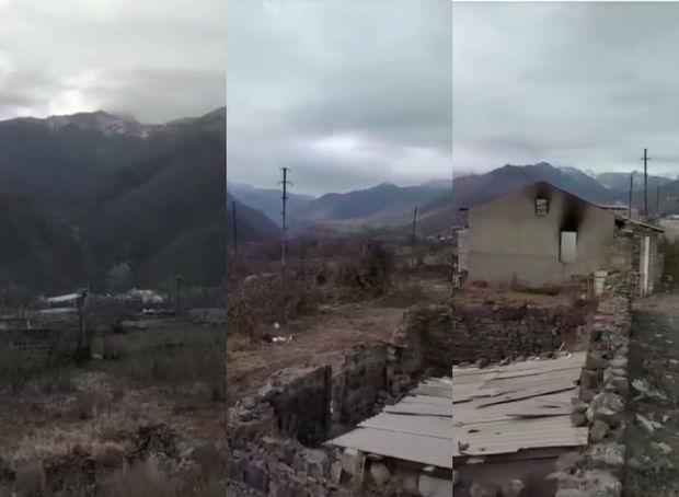 Düşmənin viran qoyduğu Kəlbəcər şəhərinin görüntüləri – VİDEO