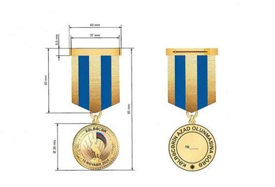 """Prezident bir qrup hərbçini """"Kəlbəcərin azad olunmasına görə"""" medalı ilə təltif etdi"""