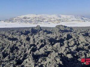Şamaxının Quşçu kəndində vulkan püskürdü