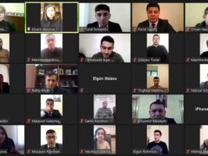Yevlaxda 2 Fevral Gənclər Günü münasibəti ilə videokonfrans keçirilib