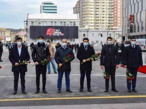 """Nərimanov rayon gəncləri """"Ana Harayı"""" abidəsini ziyarət edib"""
