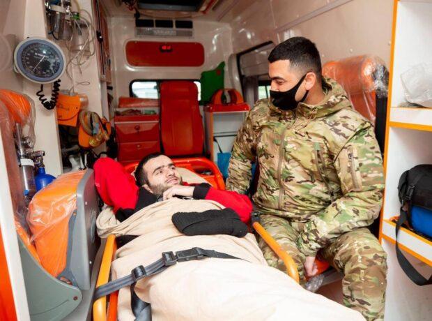 """Ağır yaralanan daha 27 qazimiz """"YAŞAT"""" Fondu tərəfindən Türkiyəyə göndərilib"""