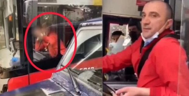 """""""Baku Bus""""ın sürücüsündən vətəndaşa əxlaqsız jest – VİDEO"""