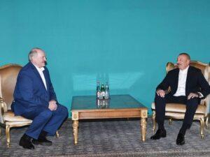 İlham Əliyev ilə Aleksandr Lukaşenkonun qeyri-rəsmi görüşü olub
