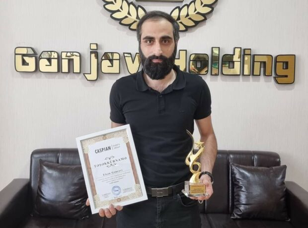 """Elşən Gəncəvi """"CELEBRITY AWARDS 2021"""" mükafatına layiq görülüb – FOTOLAR"""