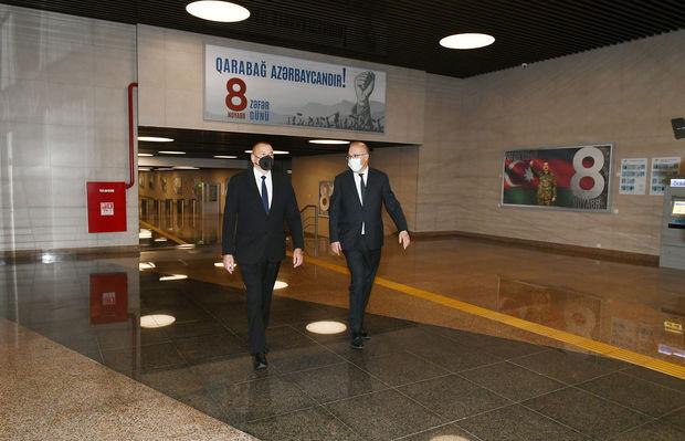 """""""8 Noyabr"""" stansiyası istifadəyə verildi – FOTO"""