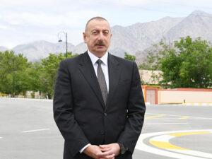 Prezident Daşaltı kəndində tunelin təməlini qoydu