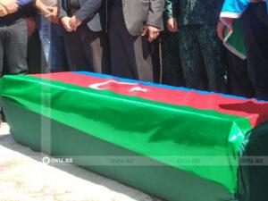 Azərbaycan ordusunun göldə boğulan kapitanı dəfn edildi – FOTO