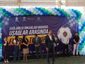 """""""Sağlamlıq imkanları məhdud olan uşaqlar üçün mini futbol turniri"""" layihəsinin açılış mərasimi keçirilib"""