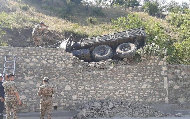 Azərbaycanda hərbi maşın qəzaya düşdü: 15 hərbçi yaralandı