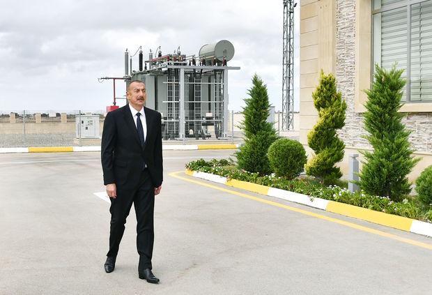 İlham Əliyev Bakıda yarımstansiyanın açılışında
