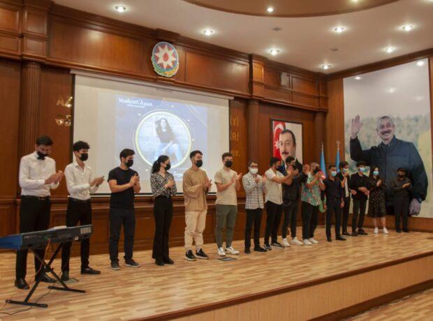 """Nərimanov rayonunda """"Studentvisions – 2021"""" mahnı müsabiqəsi keçirilib"""