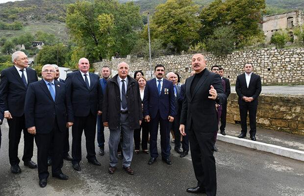 Prezident Hadruta səfər etdi – Fotolar