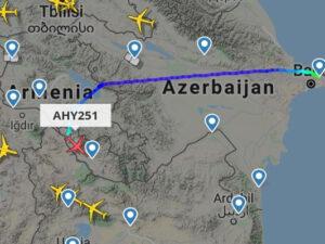 AZAL illər sonra ilk dəfə Ermənistan üzərindən uçuşlara başladı